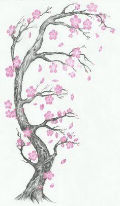 Trendy ideas for cherry blossom tree tattoo tatoo Tree Branch Tattoo, Tree Tattoo Arm, Blossom Tree Tattoo, 1 Tattoo, Back Tattoo, Leg Tattoos, Tattoo Drawings, Sleeve Tattoos, Roots Tattoo