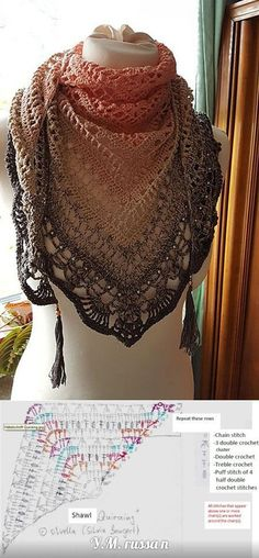 "SHAWL CROCHET ""Quiraing"" by Silvia Bangert"