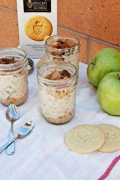 No Bake Apple Cheesecake in a Jar