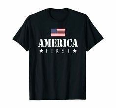 America first T-Shirt Funny Birthday Cotton Tee VTG S-3Xl Men #tshirts (ebay link)