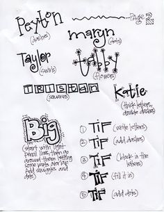 T. Matthews Fine Art: First Friday Art Class for February 2012 - Fun and Funky Lettering