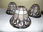 For Sale - 3 VINTAGE TIFFANY STYLE STAINED GLASS  LAMP SHADES