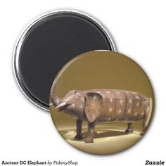 Ancient DC Elephant 2 Inch Round Magnet
