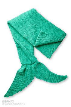 Knit Mermaid Snuggle Sack - Patterns | Yarnspirations
