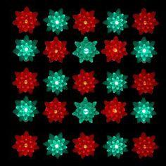 kurt s adler 25 light led red and green petal reflector indooroutdoor
