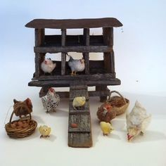 Woolytales Miniatures: Animals available and show report Miniature Crafts, Miniature Houses, Miniature Dolls, Miniature Rabbits, Barn Animals, Christmas Nativity Scene, Fairy Houses, Miniture Things, Inspired Homes