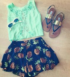 Mint and ananas