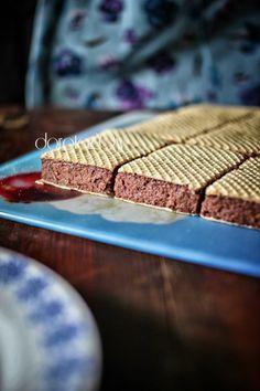 Stefania na waflach – ciasto z kaszy manny bez pieczenia / cake without baking