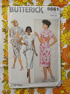 BUTTERICK 5661 sewing pattern FACTORY FOLD 1980s vintage UNUSED retro dress | Crafts, Sewing, Sewing Patterns | eBay!