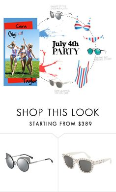 """""""Squad Goals by Taylor, Gigi and Cara"""" by smartbuyglasses ❤ liked on Polyvore featuring Fendi, Yves Saint Laurent, Ray-Ban, taylorswift, CaraDelevingne, 4thofjuly and gigihadid"""