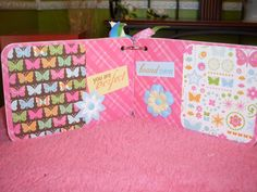 Premade Baby Girl 4x6 Chipboard Album Welcome by CreationsbyColett