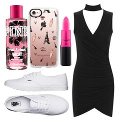 """""""Sydney Reed- Graduation"""" by jwpixie96 ❤ liked on Polyvore featuring WearAll, Vans, Casetify and MAC Cosmetics"""