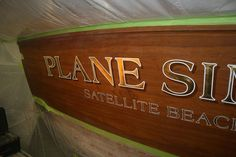 #TRANSOM: Plane Simple, Satellite Beach Florida #Boat #Transom #BoatTransom TRANSOM #TECHNIQUE: #GoldLeaf #BOAT #BUILDER #BoatBuilder: #SpencerYachts , #NorthCarolina