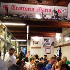 Trattoria da Mario - Florence, Firenze, Italy. This place has one of the best steaks in town.