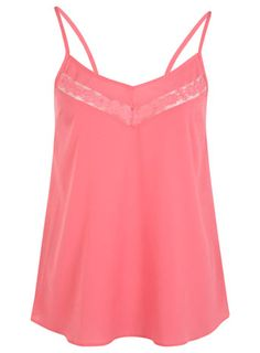 Pink Lace Insert Cami
