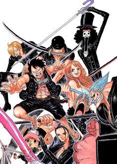 One Piece, Film Gold, Monkey D Luffy, Chopper, Nico Robin, Nami, Sanji, Brook, Franky, Ussop and Zoro