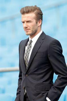 David Beckham, visiting Beijing Guo'an Football Club in Beijing, China on March 21, 2013.
