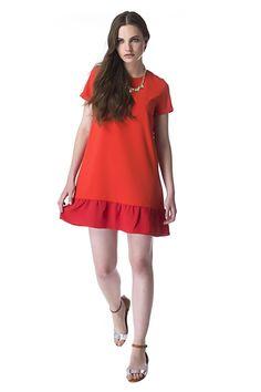 Pocket Red Dress de Compañía Fantástica Spring/Primavera 2015