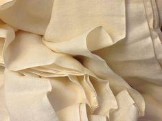 Cotton double gauze fabric - Unbleached