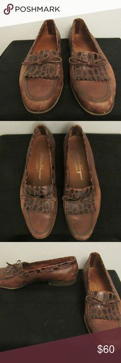 mens salvatore ferragamo loafers 10.5 D good shape: may need to have bottoms replaced  mens salvatore ferragamo loafers 10.5 D Salvatore Ferragamo Shoes Loafers & Slip-Ons