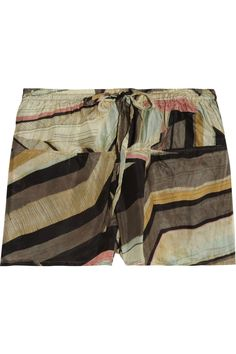 Thakoon Addition Printed silk shorts - remake into pants with pockets across the front like this.