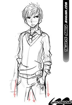 Taller de Manga. Cómo dibujar un chico Manga.