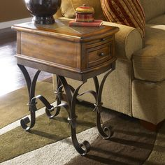 Riverside Stone Forge Chairside Table $399.00