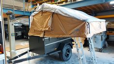 ATS+ Offroad rooftent trailer with 220 4 person rooftent Adventure Trailers, Offroad, Outdoor Gear, 4x4, Baby Strollers, Tent, Europe, Design, Baby Prams