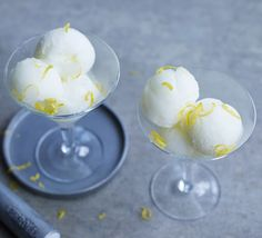 A simple gluten-free and refreshing lemon sorbet with just 4 ingredients, serve as a light dessert or in between courses at a dinner party.