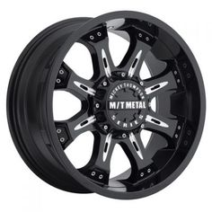 Mickey Thompson M/T Metal Series Piano Black Wheel with Milled Accents 18 millimeters offset Jeep Rims, Truck Rims, Welding Trailer, Welding Rigs, Forks Design, Rims For Cars, Smooth Lips, Black Wheels, Truck Parts