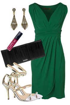 Draped In Emerald Outfit includes RMK, Martini, and maiden voyage - Birdsnest Fashion Clothing