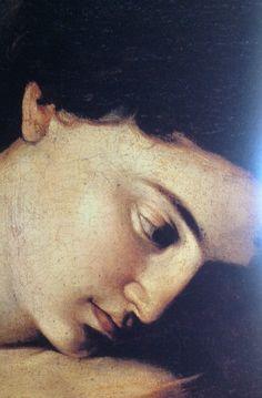 fiammaditd:Caravaggio - Madonna dei Pellegrini, 1604-1606 (detail)
