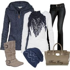"""Winter Blues"" by keri-cruz on Polyvore"