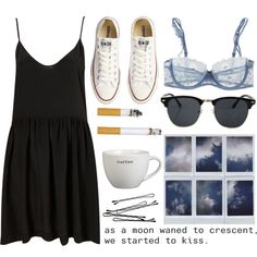 A fashion look from January 2013 featuring black skater dress, floral bra and flat shoes. Browse and shop related looks.