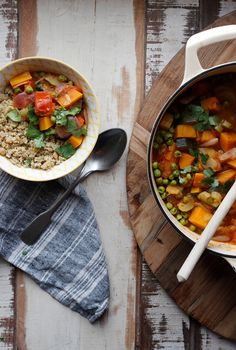 The Tastiest Veggie Stew Veggie Dinners, Veggie Recipes, Dinner Recipes, Cooking Recipes, Healthy Recipes, Salmon Toppings, Natural Born Feeder, Curry Stew, Paleo Grubs