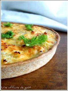 Image de la recette Quiche au saumon et fenouil - Pâte à tarte légère au yaourt et à l'huile d'olive