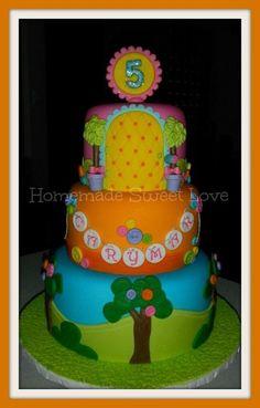 Lallaloopsy themed cake