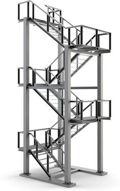 Metal stairs - Annette Home Balcony Grill Design, Balcony Railing Design, Home Stairs Design, House Design, Steel Structure Buildings, Roof Structure, Steel Gate Design, Staircase Handrail, Building Stairs