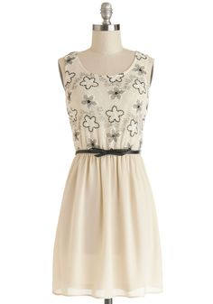 Room for Dessert Dress. Your dinner date just got sweeter! #cream #modcloth