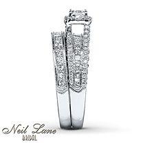 Diamond Bridal Set 2 ct tw Round-cut 14K White Gold