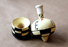 Vintage Spinning Top Cat Chef by AnnelesAttic on Etsy