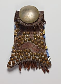 tacked and beaded bag, S. Cheyenne perhaps, Cantor Arts Center, Stanford ac