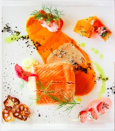 Icelandic Wild Salmon prepared at Hótel Rangá. See the website for more delicious food like the Icelandic Mountain Lamb and Lobster :) mmmm Icelandic Cuisine, Scandinavian Food, Just Eat It, Professional Chef, Food Industry, Salmon, Yummy Food, Meals, Travel Ideas