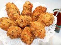 ,,Vrabci v hrsti,, se šťouchanými brambůrky No Salt Recipes, Cooking Recipes, Czech Recipes, Crispy Chicken, Chicken Nuggets, Cauliflower, Food And Drink, Menu, Dishes