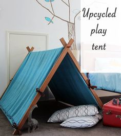 Make this play tent together, then watch them enjoy countless hours of summer fun.