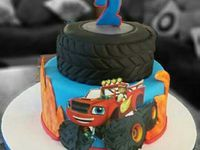 1000+ images about Hunter's 3rd Birthday - blaze and the monster machines cake on Pinterest   Monster Truck Cakes, Trucks and Monster Trucks