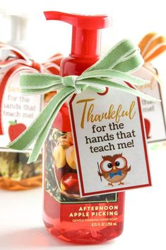 Thankful for the Hands That Teach Me Free Printable Gift Tag