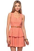 Belted Eyelet Peplum Dress  $29.80  Forever 21