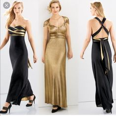 Gold & Black Multiwear Dress