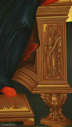 Trono Byzantine Icons, Byzantine Art, Religious Icons, Religious Art, Russian Icons, Orthodox Christianity, Art Icon, Orthodox Icons, Virgin Mary